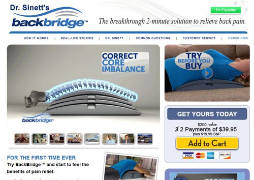 BackBridge website