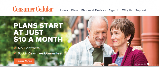 Consumer Cellular website