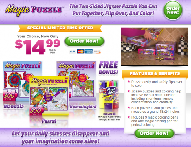 Magic Puzzle Review Two Sided You Can Color