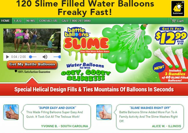 battle balloons slime review