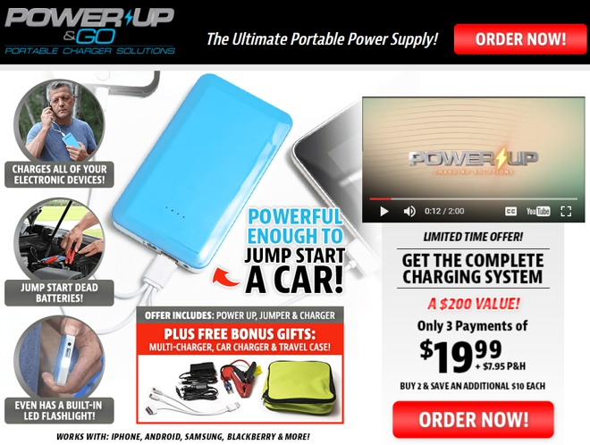 power up and go review