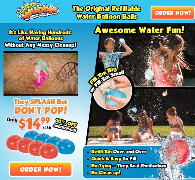 water wubble review