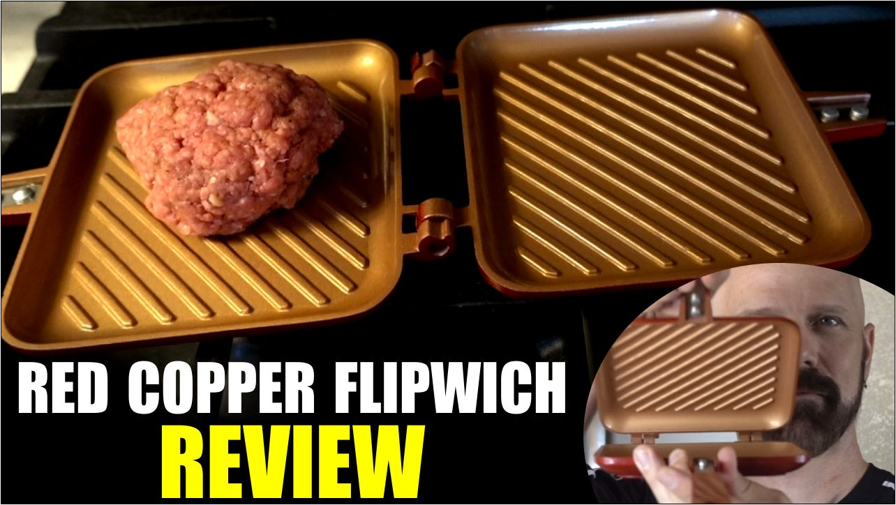 Red Copper Flipwich Review Flip Grill For Sandwiches And