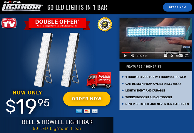 bell & howell light bar review