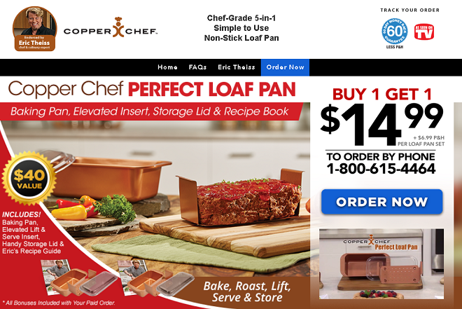 copper chef perfect loaf pan review