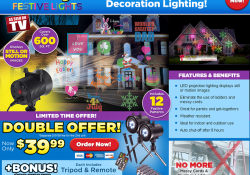 glow bright festive lights review
