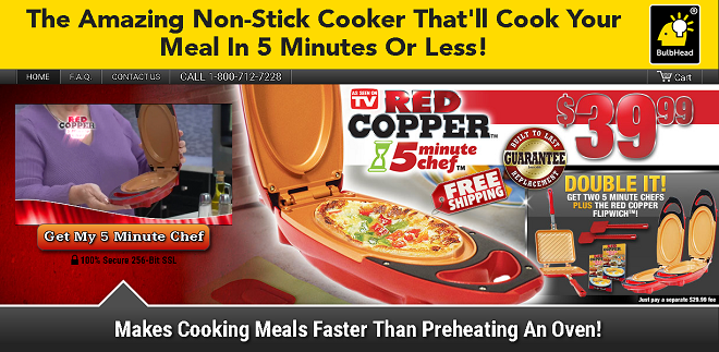 Red Copper 5 Minute Chef Review Two Sided Grill Freakin