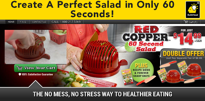 red copper 60 second salad review