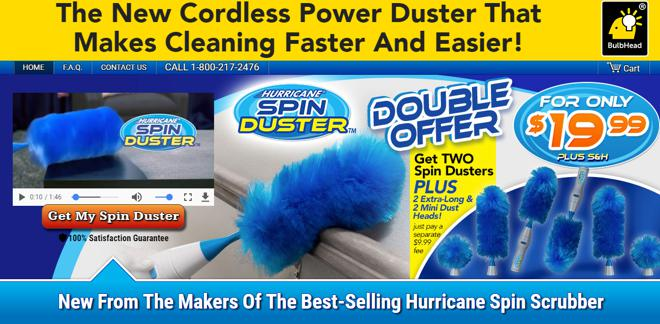 hurricane spin duster review