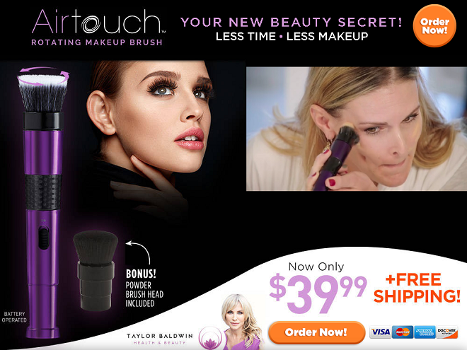airtouch rotating makeup brush review