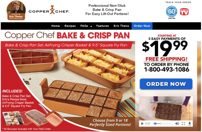 copper chef bake and crisp pan review