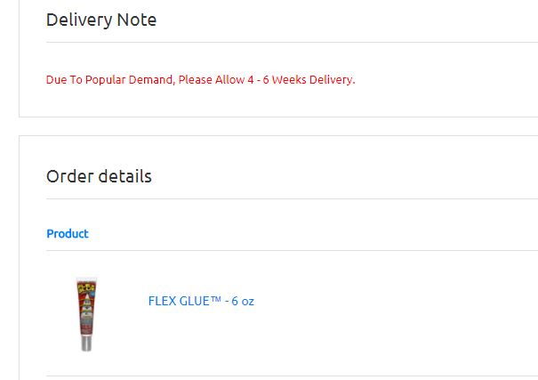 Flex Glue Shipping