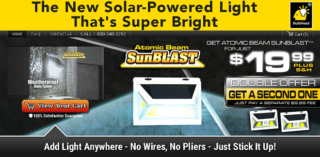 Atomic Beam Sunblast Review Does This Solar Powered Light