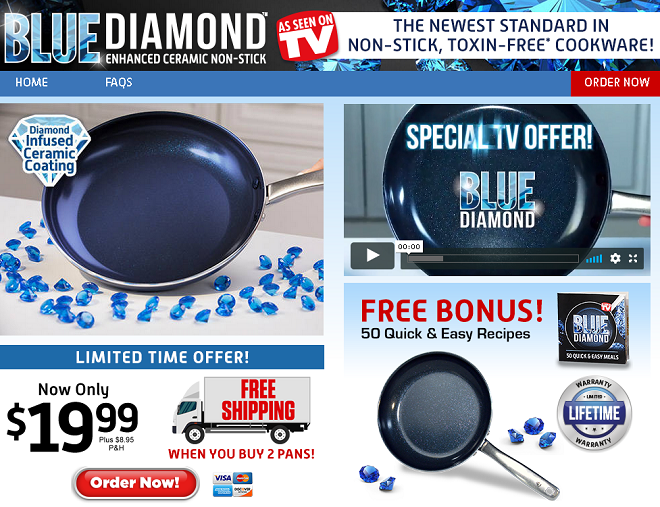 blue diamond pan review